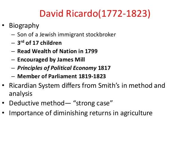 david ricardo law diminishing returns David ricardo 1 • like smith david also produced his views on economy development in his book that the law of diminishing returns operates.