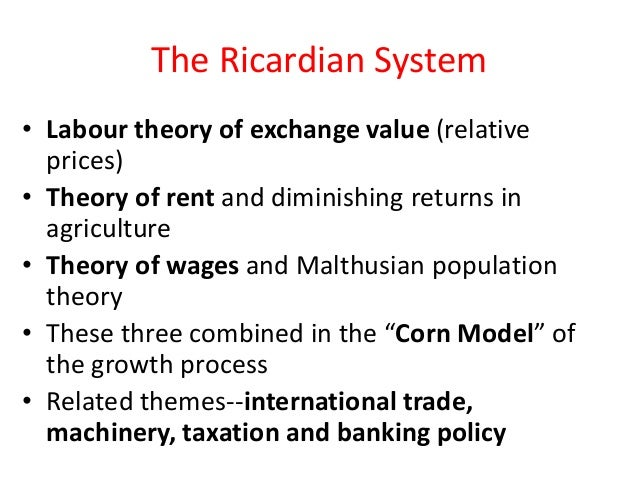 a comparison of the views of malthus and ricardo on economy Thomas robert malthus wrote his essay on  malthusian theory of population: explained with its criticism  there is evidence that birth-rates fall as the economy.