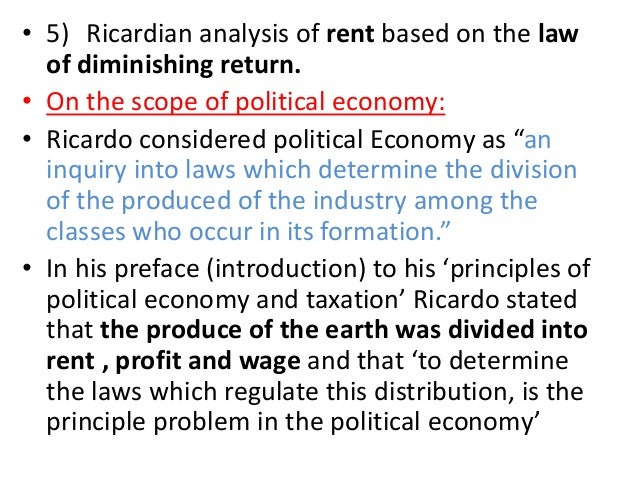 ricardian rent theory analysis A brief review of the theory of rent: from classical and marxist  of rent: from classical and marxist approach  ricardian theory of rent is.