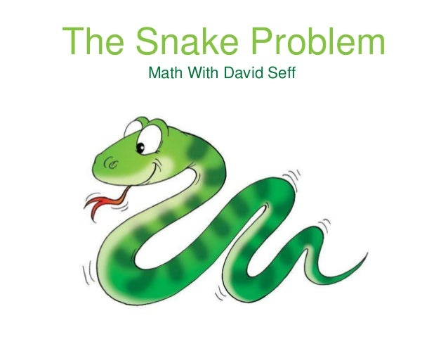 The Snake Problem Math With David Seff