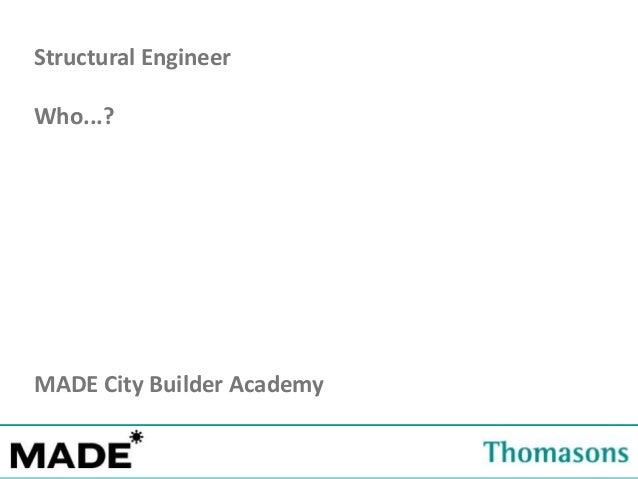 Estates Office Structural Engineer Who...? MADE City Builder Academy