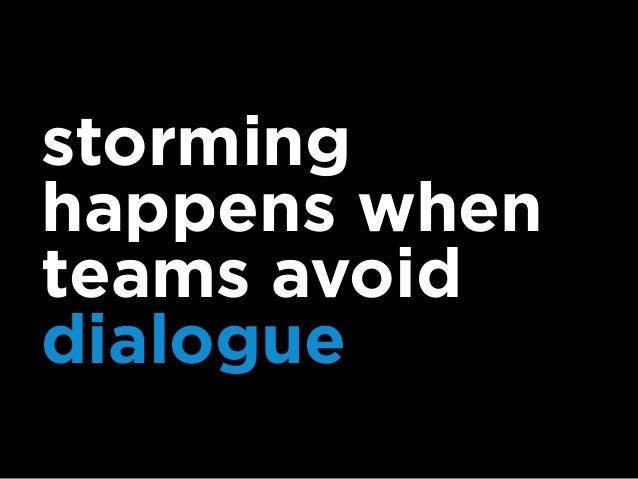 productive dialogue requires four stances