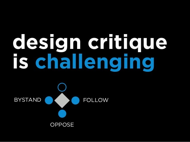 moving beyond the crap sandwich of design critique 1. Ask if someone would like to enter into a critique, and when to star...