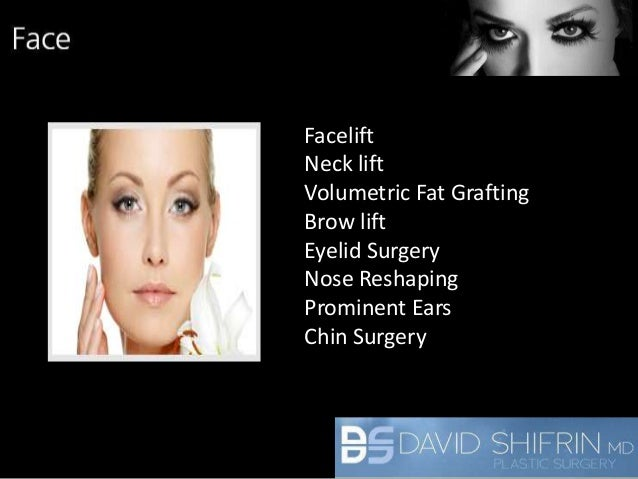 Dr  David Shifrin Plastic Surgery Services