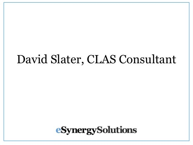 David Slater, CLAS Consultant