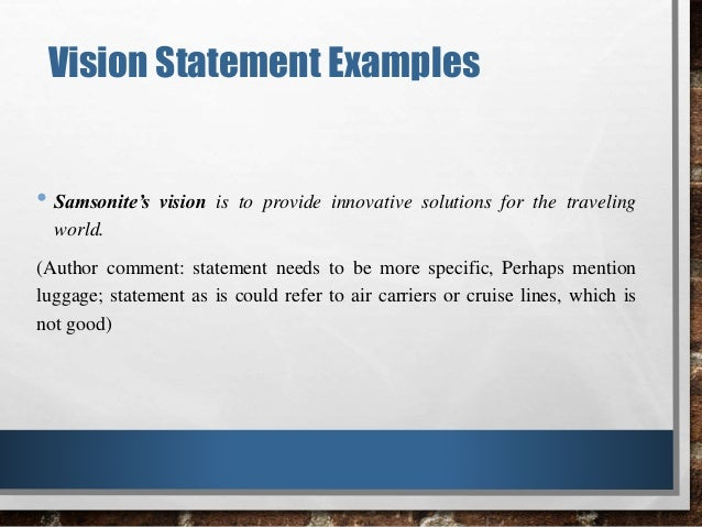 How Stable Is The Vision Statement Samples Of Some Terrible Versions