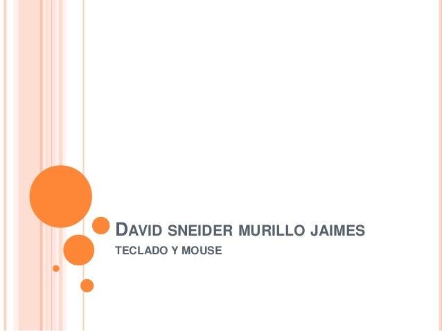 DAVID SNEIDER MURILLO JAIMESTECLADO Y MOUSE