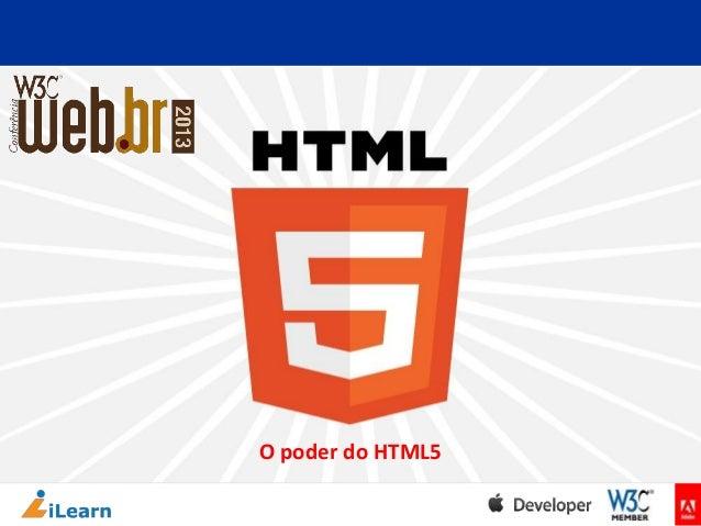 O poder do HTML5