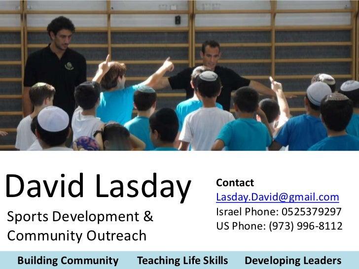 David Lasday                           Contact                                       Lasday.David@gmail.com               ...
