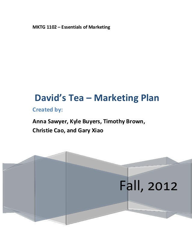 Herbal tea marketing plan