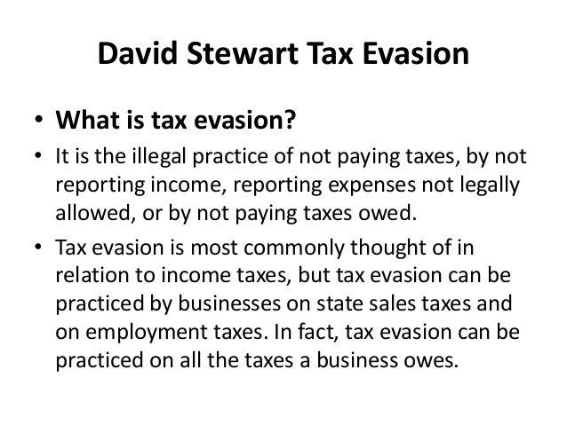 David Stewart Tax Evasion Slide 3
