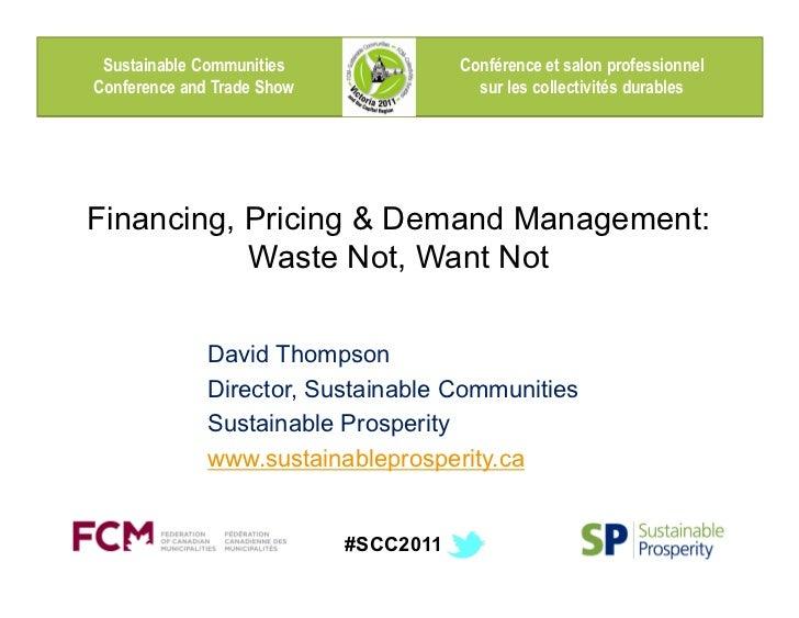 Sustainable Communities               Conférence et salon professionnelConference and Trade Show                sur les co...