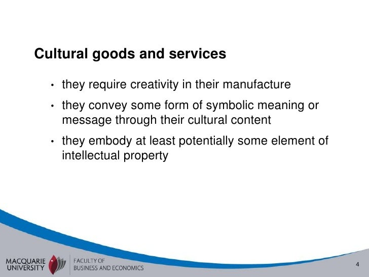 Culture The Economy David Throsby Valuation And The Cultural