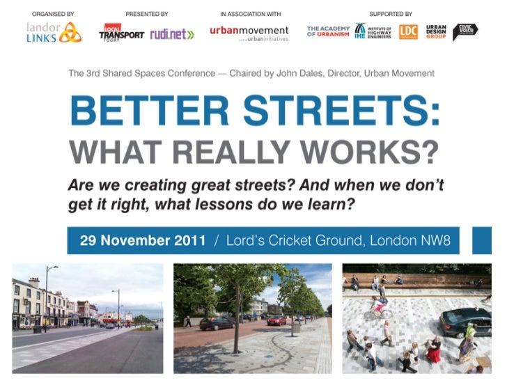 How important are goodlooks when money is tight?             David Ubaka   TfL Head of Design (Urban Realm)