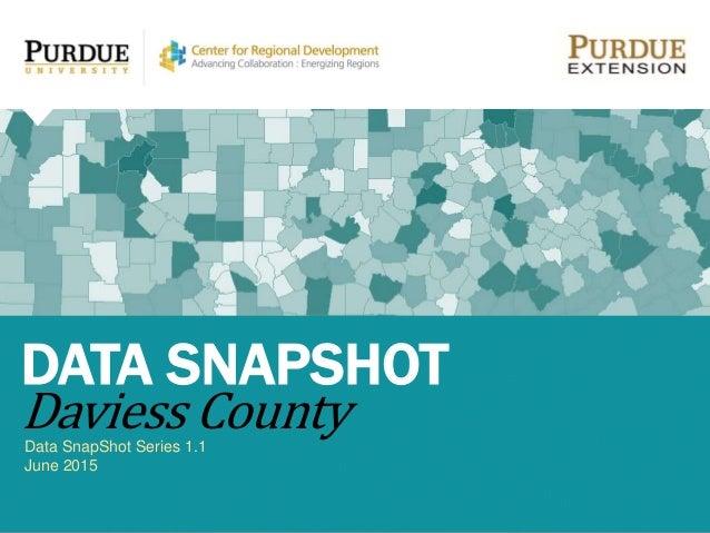 Data SnapShot Series 1.1 June 2015 DATA SNAPSHOT Daviess County