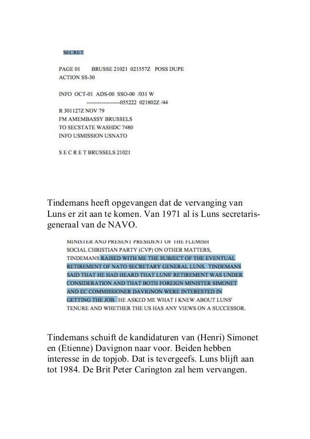 Davignon én Simonet wilden baas van NAVO worden Slide 2
