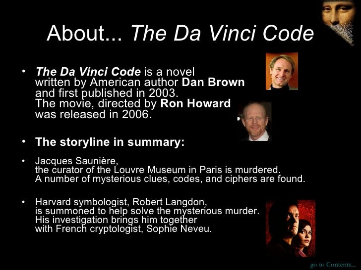 The Da Vinci Code: Character Profiles