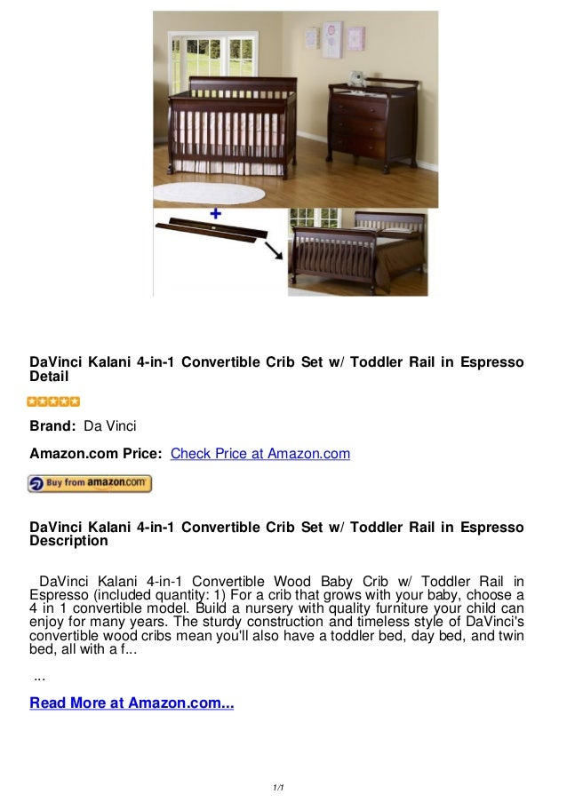 rail baby with convertible davinci chestnut pin kalani crib in cribs time toddler