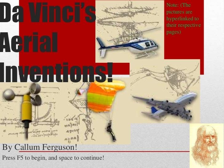 Da Vinci's                                            Note: (The                                            pictures are  ...