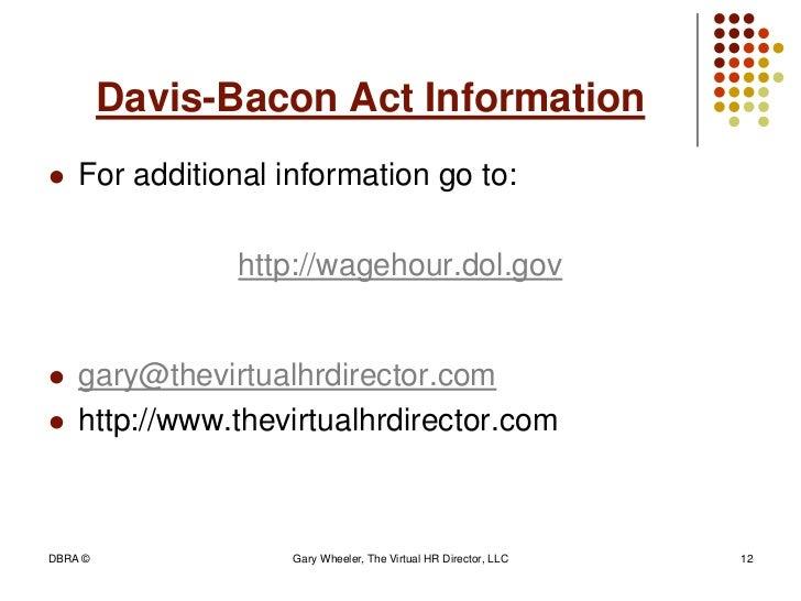 davis bacon act Btop recipient davis-bacon checklist 1 march 2012 broadband technology opportunities program (btop) davis-bacon act compliance checklist for recipients.
