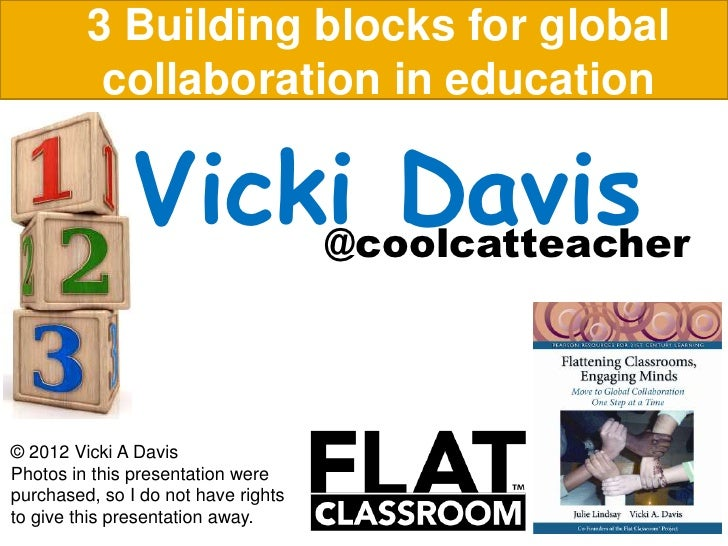 3 Building blocks for global          collaboration in education               Vicki Davis                   @coolcatteach...