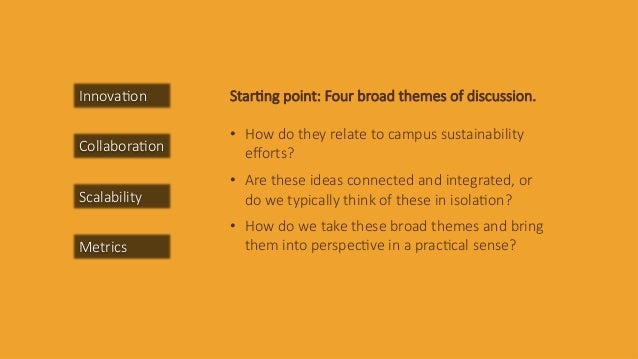 Innova&on Collabora&on Scalability Metrics Star&ng  point:  Four  broad  themes  of  discussion.      •  How  do  they  re...