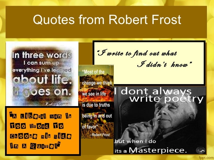 Robert Frost Lessons Through Everyday Life