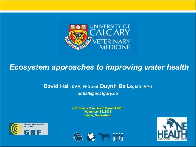 Ecosystem approaches to improving water health David Hall, DVM, PhD and Quynh Ba Le, MD, MPH dchall@ucalgary.ca GRF Davos ...