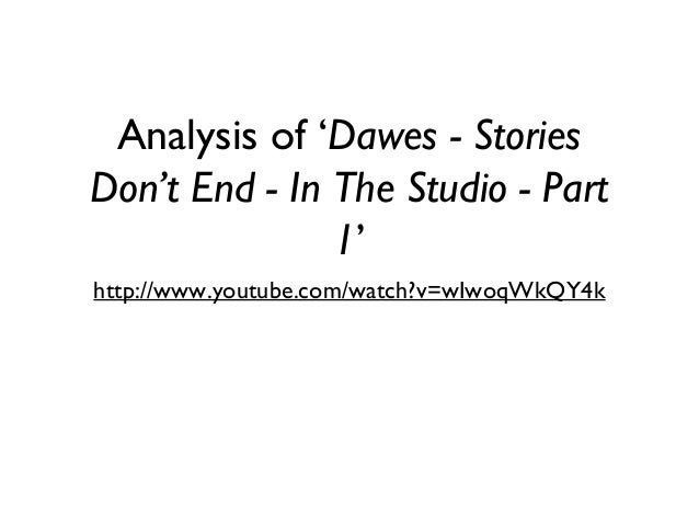 Analysis of 'Dawes - Stories Don't End - In The Studio - Part 1' http://www.youtube.com/watch?v=wIwoqWkQY4k
