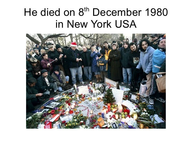 thHe died on 8 December 1980      in New York USA