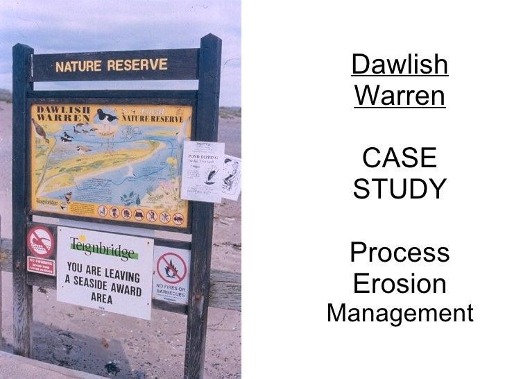 Dawlish  Warren   CASE  STUDY   Process  Erosion Management