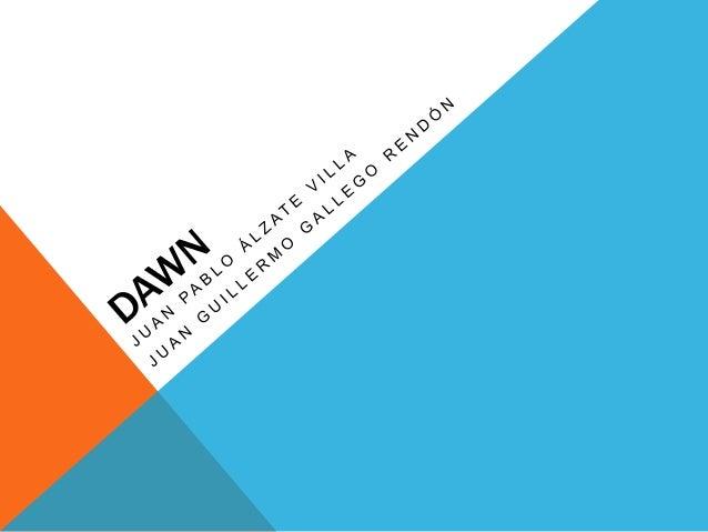 DAWN Es un juego que se desarrollara por medio de unity dirijido a jugadores casuales los cuales no están comprometidos pr...