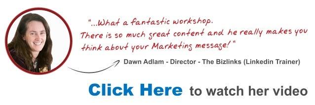 Dawn Email Marketing Workshop Testimonial