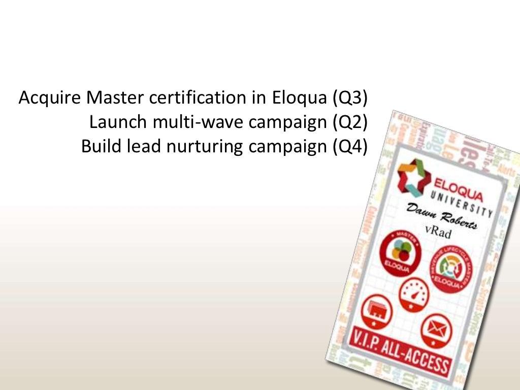 Acquire Master Certification In Eloqua