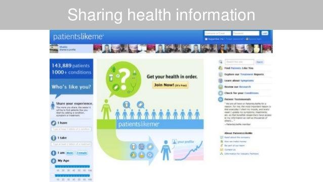 Sharing health information