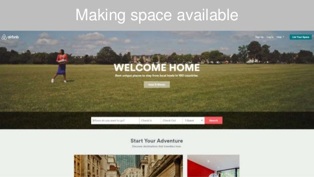 Making space available