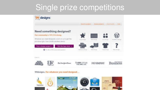 Single prize competitions
