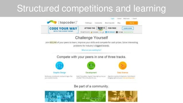 Structured competitions and learning