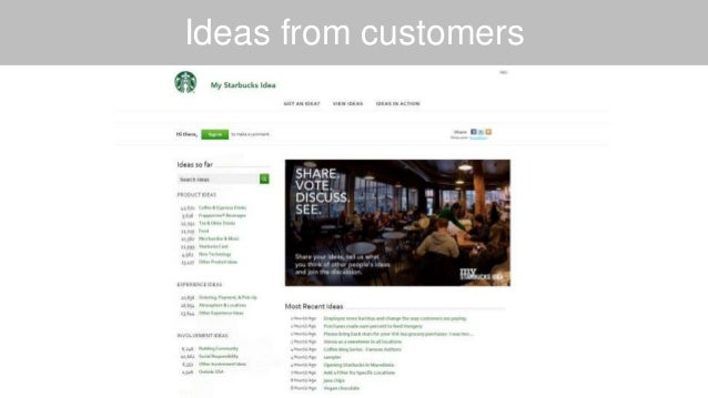 Ideas from customers