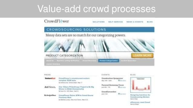 Value-add crowd processes