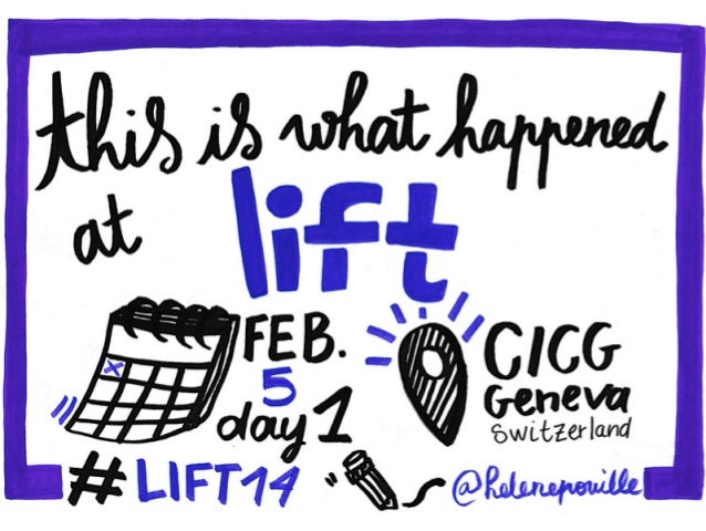 DAY 1 - What happened at Lift Conference 2014