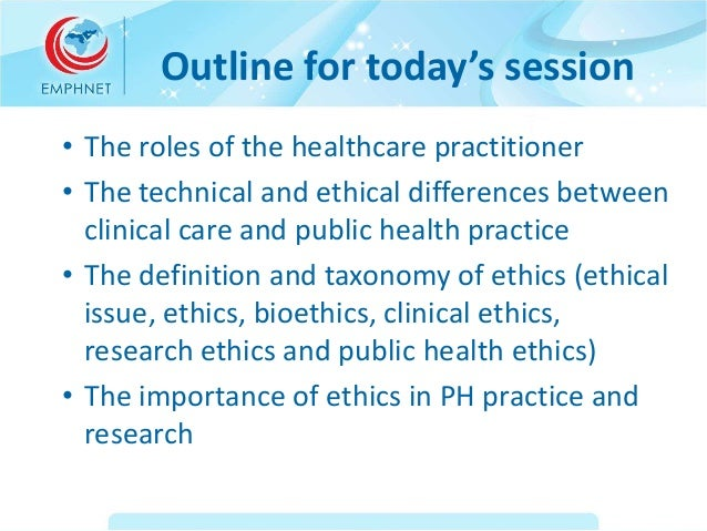 The importance of public-health ethics