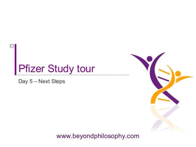 www.beyondphilosophy.com Pfizer Study tour Day 5 – Next Steps
