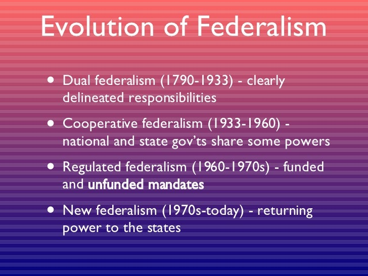 evolving federalism On the evolution of fiscal federalism: theory and institutions wallace e oates department of economics, university of maryland, college park, md 20742.
