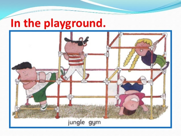 In the playground.