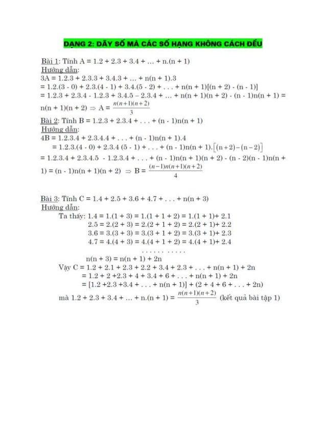 DẠNG Z: DỈY SỂMẨ CỈC SỂHẠNG KHỂNG CỈCHĨỈÐỈU  Bâìi 1: Tílìlì .- = 1.12 + 12.23 + ấẫ.^l +  + lì.(Iì +1)  HLĨỞIIƯ cĩẳxlz  3.-...