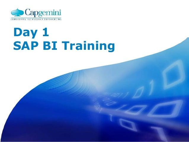 Day 1 SAP BI Training