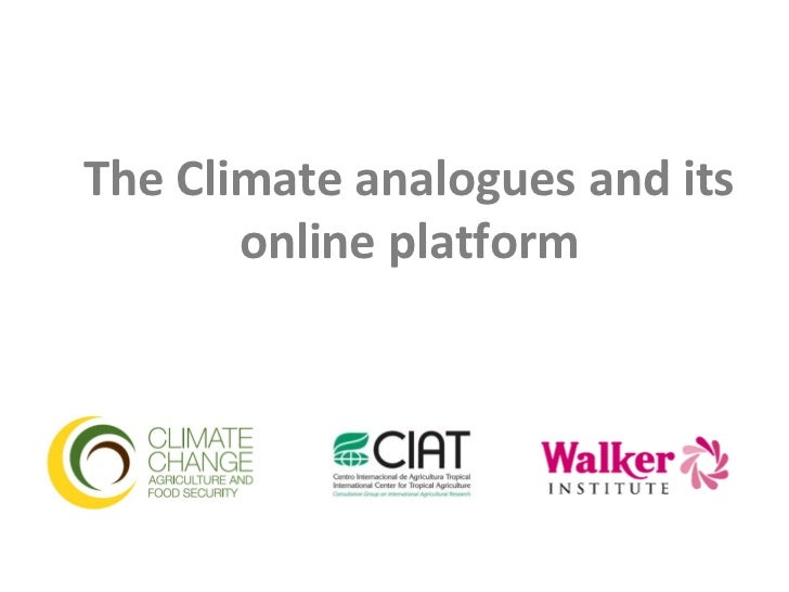 The Climate analogues and its       online platform