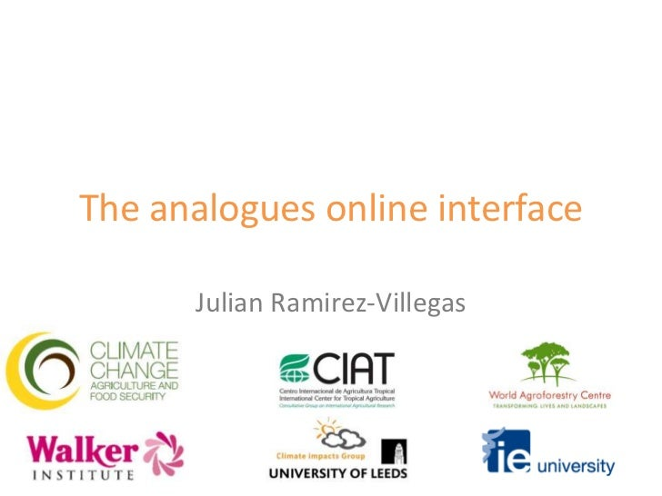 The analogues online interface<br />Julian Ramirez-Villegas<br />