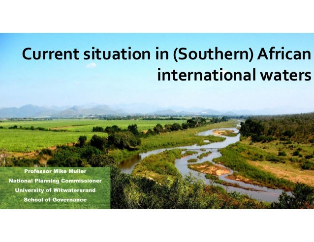 Current situation in (Southern) African international waters
